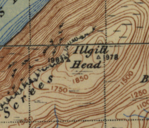 Illgill Head map
